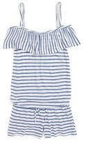 Splendid Girl's Stripe Romper Cover-Up