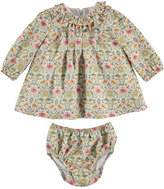 Mayoral Long-Sleeve Floral Shift Dress & Bloomers, Rose, Size 3-24 Months