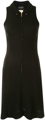 Chanel Pre Owned Classic Collar Zipped Dress