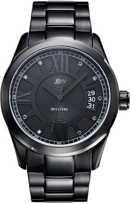JBW Men's Bond Diamond Accent Stainless Steel Watch