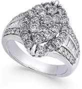 Macy's Diamond Marquise-Style Cluster Ring (2 ct. t.w.) in 14k White Gold