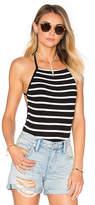 Lovers + Friends Love Life Bodysuit in Black & White. - size XL (also in )