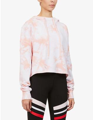 Lorna Jane Dreamy tie dye-print cotton-jersey hoody