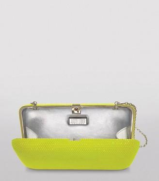 Judith Leiber Neon Slim-Side Box Clutch Bag