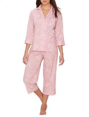 Lauren Ralph Lauren Classic Capri Woven Pajama Set