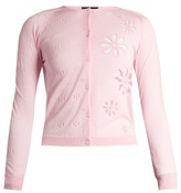 Simone Rocha Floral-embroidered wool and silk-blend cardigan