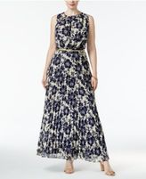Jessica Howard Plus Size Chiffon Floral-Print Maxi Dress