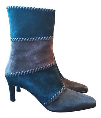 Salvatore Ferragamo Brown Suede Ankle boots