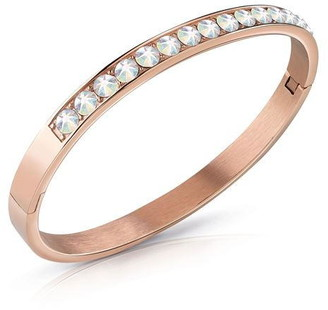 GUESS Rose gold plated crystal bangle
