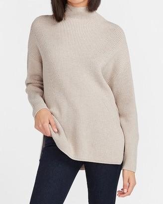 Express Side Slit Mock Neck Sweater
