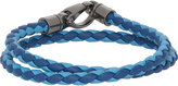 Tod's Men's Braided Leather Double-Wrap Bracelet