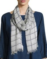 Eileen Fisher Sketched Plaid Scarf