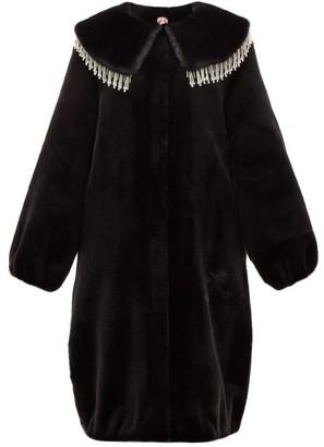 Shrimps Weston Crystal-embellished Faux-fur Coat - Black