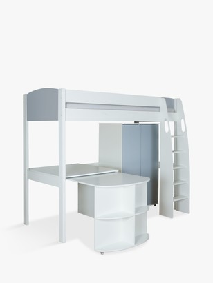 Stompa Uno S Plus High-Sleeper Bed with Wardrobe and Pull-Out Desk