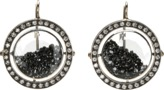 Moritz Glik Black Diamond and Sapphire Orbit Earrings