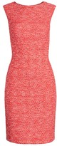 St. John Marled Space Dyed Tweed Knit Sheath Dress