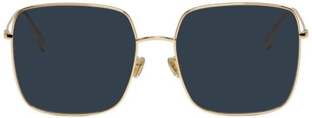 Christian Dior Gold Stellaire Square Sunglasses
