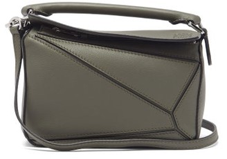 Loewe Puzzle Mini Leather Cross-body Bag - Khaki