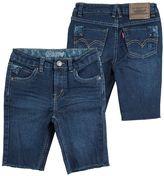 Levi's frayed denim bermuda shorts