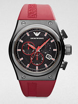 Emporio Armani Polished Stainless Steel Chronograph Watch