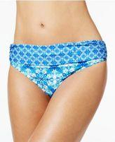 LaBlanca La Blanca True Blue Tile-Print Hipster Bikini Bottoms