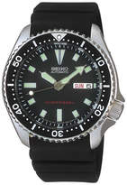 Seiko Men's Automatic Diver Black Polyurethane Strap Watch 40mm SKX173