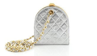 Chanel Vintage Frame Clutch Bag Quilted Leather Mini