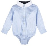 Andy & Evan Infant Boy's Banker Stripe Button Down Bodysuit