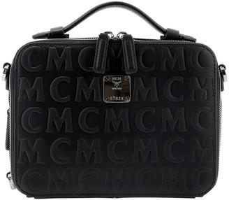 MCM Klassik E/W Monogrammed Small Crossbody Bag