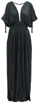 Athena Kasia Kulenty Cotton-gauze Maxi Dress - Womens - Black