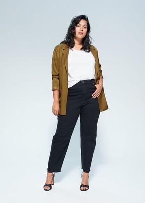 MANGO Violeta BY Pockets flowy blazer olive green - XXL - Plus sizes