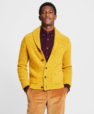 Todd Snyder Cashmere Donegal Cardigan in Yellow