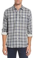 Grayers Men's Saratoga Modern Fit Plaid Double Cloth Sport Shirt