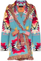 Alanui Cali Star patterned cashmere cardigan