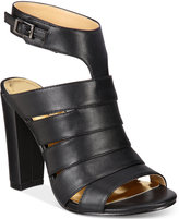 Thalia Sodi Wide-Width Ebbony Strappy Dress Sandals, Only at Macy's