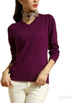 Nonbrand Womens Cashmere Blends V-Neck Sweater Size S-M