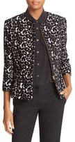 Helene Berman Women's Animal Jacquard Peplum Jacket
