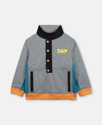 Stella Mccartney Kids Stella McCartney sup dude melange polyester jacket