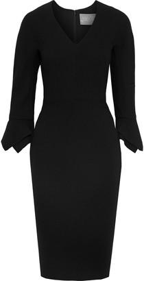 Lela Rose Fluted Stretch-wool Crepe Dress