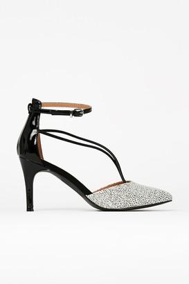 Wallis Monochrome Ankle Strap Pointed Shoe