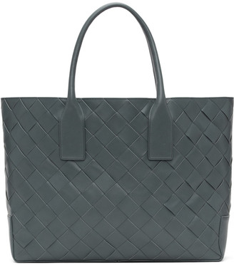 Bottega Veneta Grey Intrecciato Leather Tote