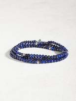 John Varvatos Lapis & Sterling Multi-Wrap Bracelet