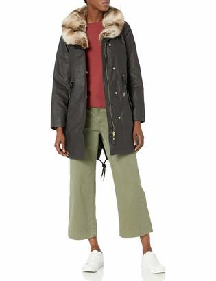 Joules Women's Swanson Faux Fur Collar Longline Parka