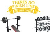 CUT IT OUT Theres No Finish Line In This Game Wall Stickers Art Decals