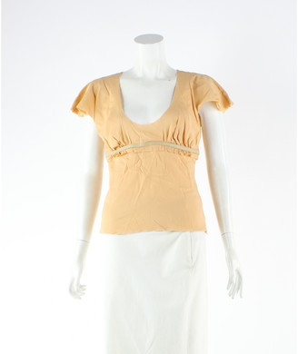 Jitrois Orange Silk Tops