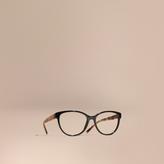 Burberry Check Detail Round Optical Frames