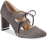 Alfani PRIMA Bindii Lace-Up Pumps, Only at Macy's