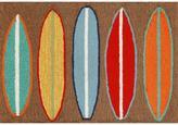 """Liora Manne Front Porch Surfboards Rug - Brown/30""""x48"""""""
