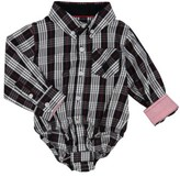 Andy & Evan Infant Boy's Shirtzie Holiday Check Bodysuit