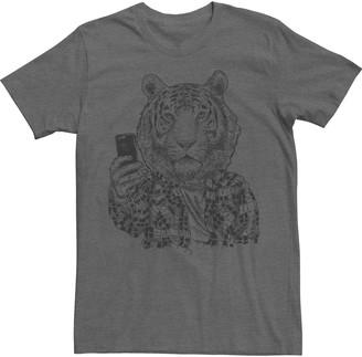 Fifth Sun Men's Tiger Sketched Selfie Tee